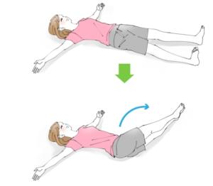 簡単ダイエット① 寝る前の「下半身ひねりストレッチ」でくびれをゲットする方法